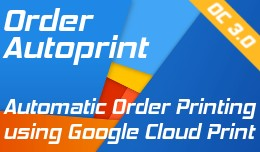 Order autoprint using google cloud print Opencar..