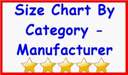 Size Chart By Category - Manufacturer