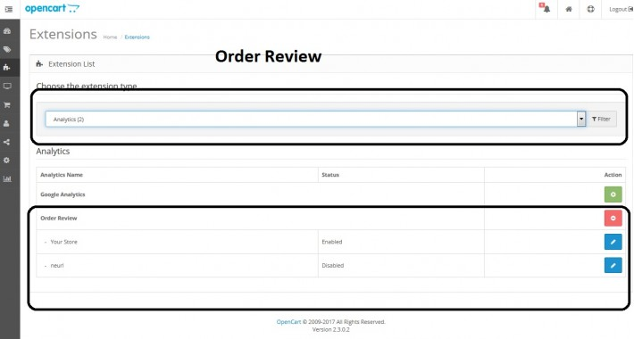 Rate Order, Order History, Coupon ,  Product on Success page.