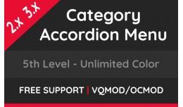 Category Accordion Menu