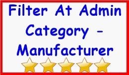 Filter At Admin Category - Manufacturer