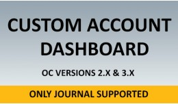 Custom Account Dashboard - Journal Theme