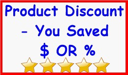 Product Discount - You Saved $ OR %