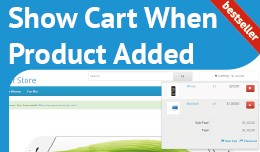 Show Cart When Product Added