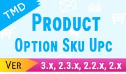Product Option SKU UPC