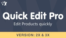 Multiple Quick Product Edit
