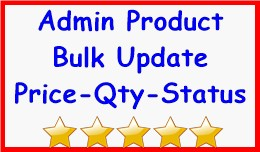 Admin Product Bulk Update Price-Qty-Status