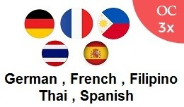 German French Filipino Thai Spanish OC3x