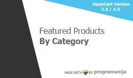 Featured Products By Category (Diferrent ones)