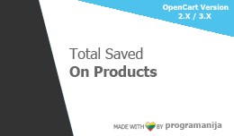Total Saved on Products (order totals)