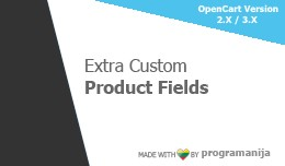 Extra Custom Product Fields