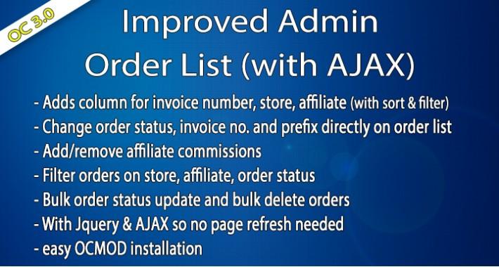 OC3 - Improved Admin Order List