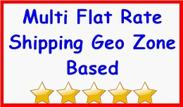 Multi Flat Rate Shipping Geo Zone Based