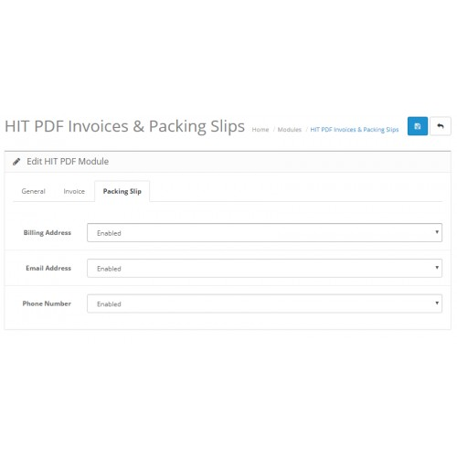 opencart order invoice shipping slip in hit pdf formate