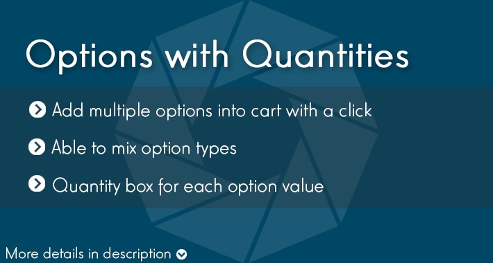 Options with Quantities