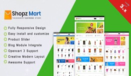 Shopz Mart OpenCart 3.X Theme(Electronic, Toy st..