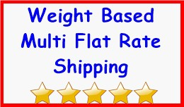 Weight Based Multi Flat Rate Shipping