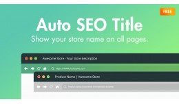 Auto SEO Title - Store name on all pages (OC3.0x)