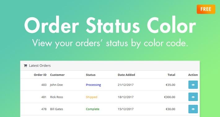 Order Status Color (OC3.0x)