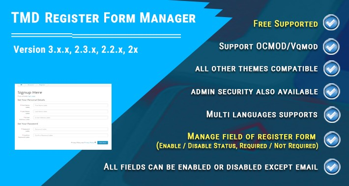 Register Form Manager