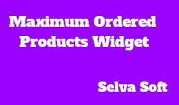 Maximum Ordered Products Widget