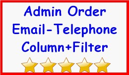 Admin Order Email-Telephone Column+Filter