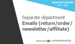 Separate Return / Order / Newsletter / Affiliate..