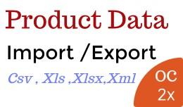 Product Import Export OC2x