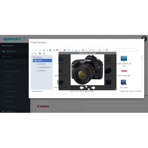 OpenCart - Image Manager
