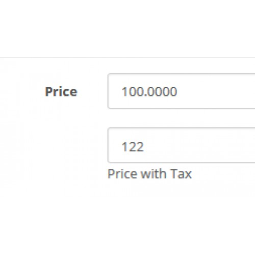 opencart price with tax enter price with without tax