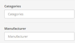 Category Location Manufacturer Filter 2.x