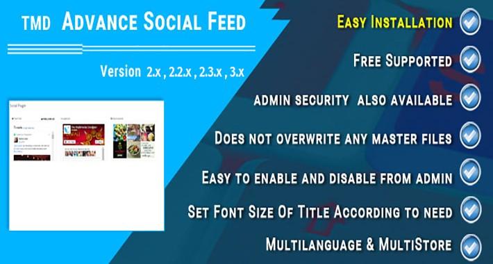 Advance Social Feed