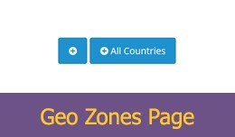 Add All Countries Button On Geo Zones Page