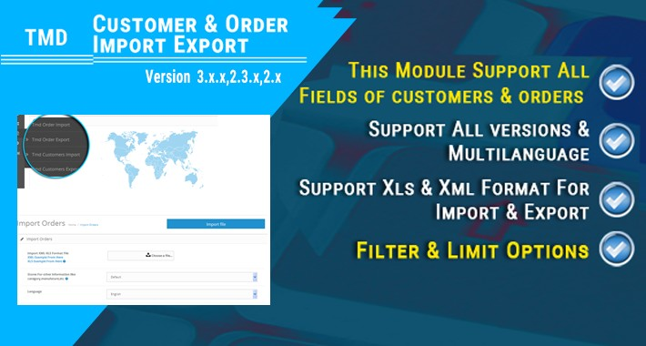 Customer & Order Import Export