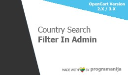 Country Search Filter in Admin