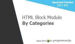 HTML Block By Category