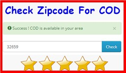 Check Zipcode For COD