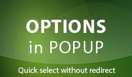 Options in Popup