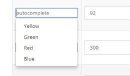 Product option value autocomplete