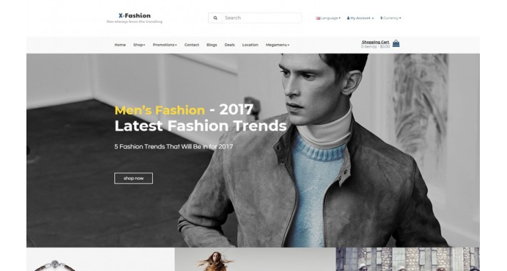Pav Xstore Free Fashion Opencart 3 Theme