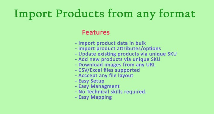 Product Import Anything