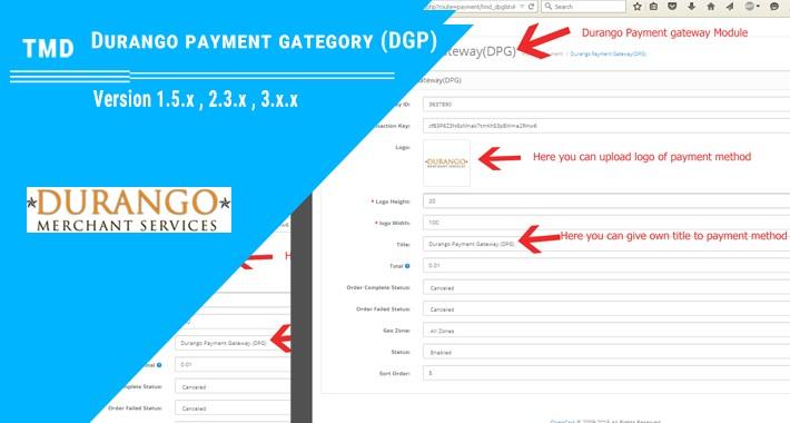 Durango Payment Gateway(1.5.x , 2.x & 3.x)