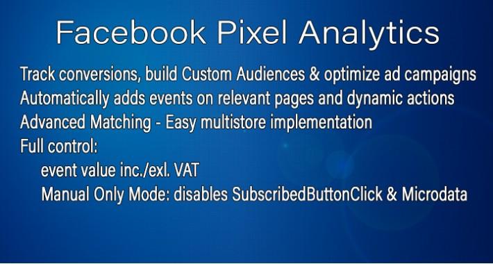 [Multistore] Facebook Pixel Analytics - +800 downloads