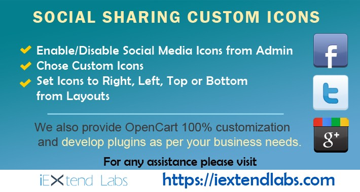 Social Sharing Custom Icons