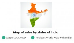 Map of sales by states of India in Admin Dashboa..
