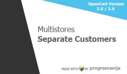 Separate \ Unique \ Isolated  Multistore Customers