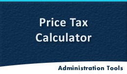 Tax Calculator (Auto Calculation Price Gross)