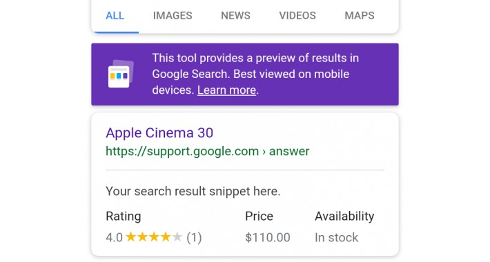 Product rich result ( schema.org ) - rich snippets
