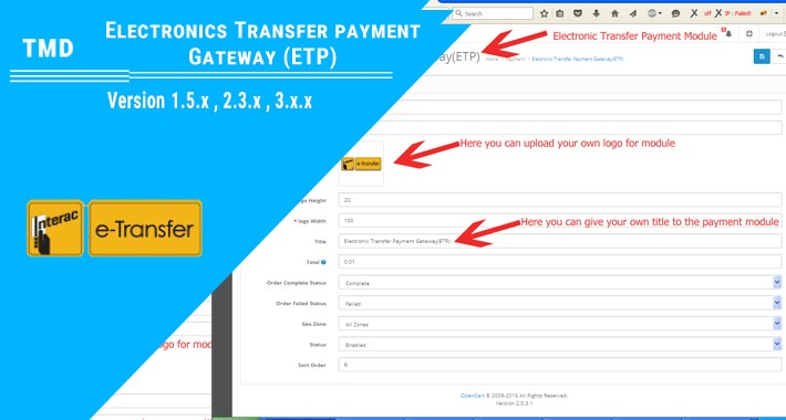 Electronic Transfer Payment Gateway(1.5.x , 2.x & 3.x )