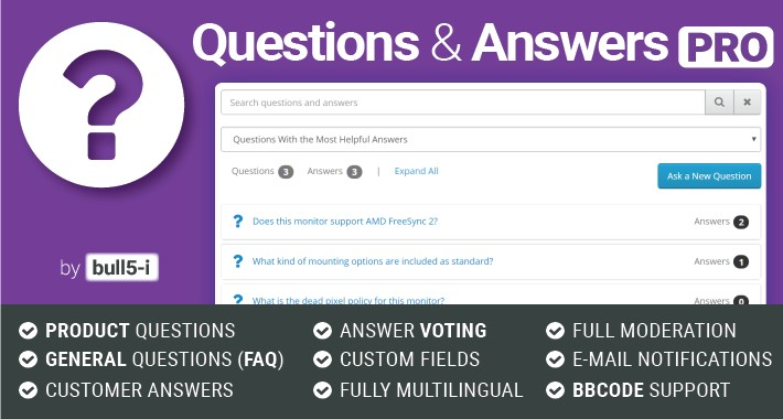 Questions & Answers PRO / Ask a question / FAQ